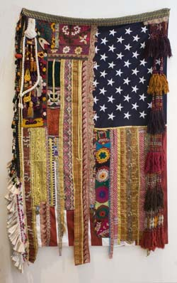 Sara Rahbar Flag 19 Mixed media