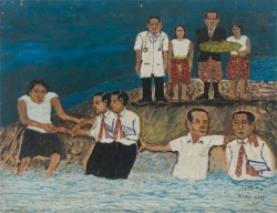 Svay Ken, Flood at the Wedding, oil
