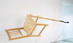 "Yuli Prayitno's chair sculpture ""I Can't Get Now Satisfaction (2007-2009)"""
