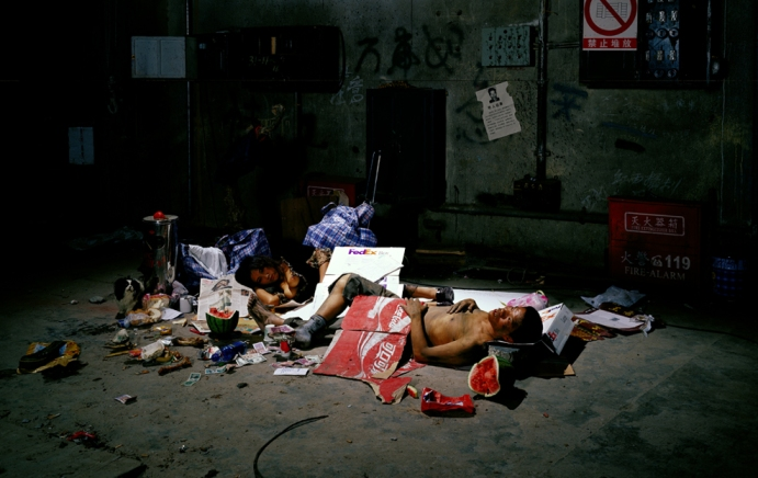 Wang Qingsong, Vagabond, 2004