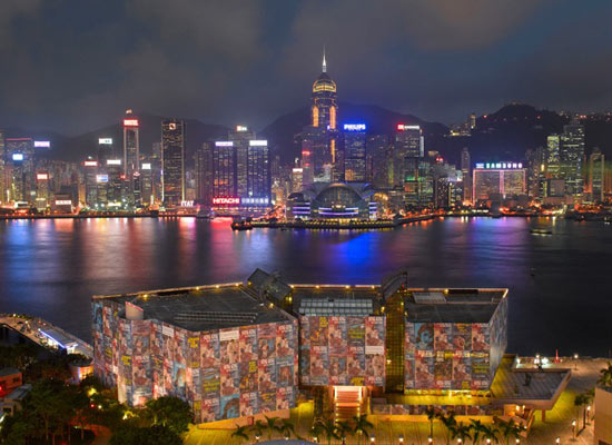 Hong Kong Museum of Art wrapped for Louis Vuitton Passion show