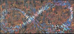 "Makota Aida ""A Picture of an Air Raid on New York City (War Picture Returns)"" 1996"