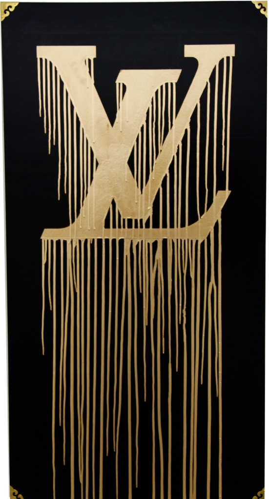 Liquidated LV, 2009, by Zevs. Oil on wood. 120 x 62 cm. HK$98,000