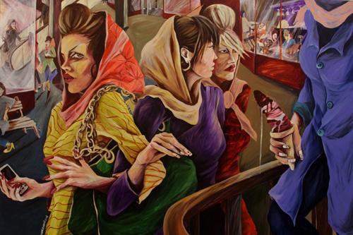 Saghar Daeeri, Shopping Malls of Tehran - Acrylic (Aaron Gallery).
