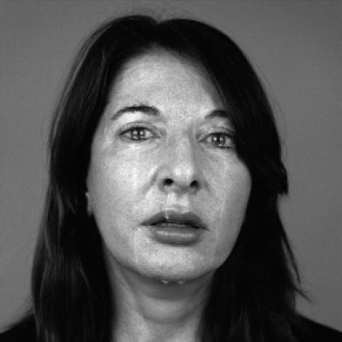 Happy Christmas, by Marina Abramovic, 2008. Silver Gelatin Print. Serbian. h: 53.9 x w: 53.9 in