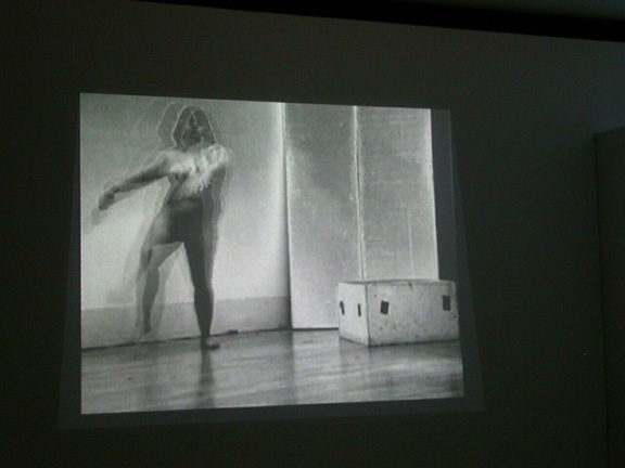 'Bird', by Sonia Khurana. Performance video, 1999. Duration, 2 minutes. Videotape, black and white, silent. Performed, shot, edited and conceptualized by Sonia Khurana.
