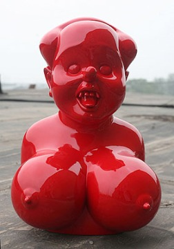 Miss Mao by Gao Brothers. Painted fiberglass. 85 x 55 x 59 in.