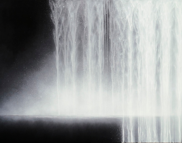 Hiroshi Senju, Waterfall, 2009, Natural pigments on Japanese mulberry paper, 90.9 x 116.7 cm