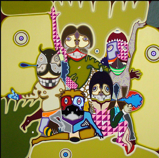 'Pose' by Yamaguchi Soichi, 2009. Acrylic on Canvas. 145x145 cm.  $20,250. USD. Inquire with the Madhouse Gallery, Hong Kong.