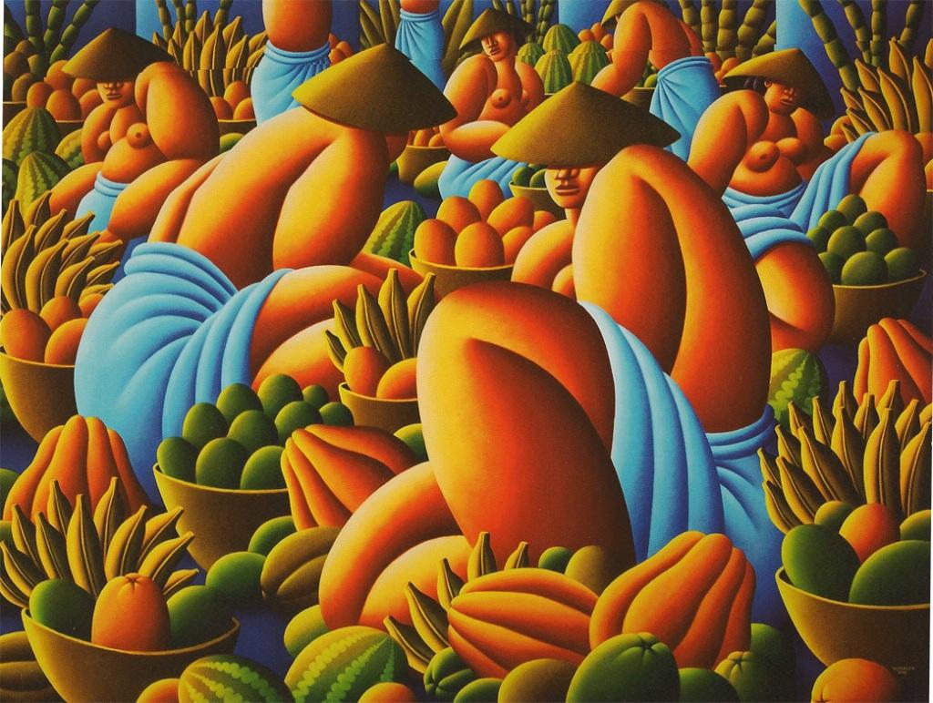 Traditional Fruitmarket, by Richard Winkler, 2009. Oil on canvas. 150x200 cm.
