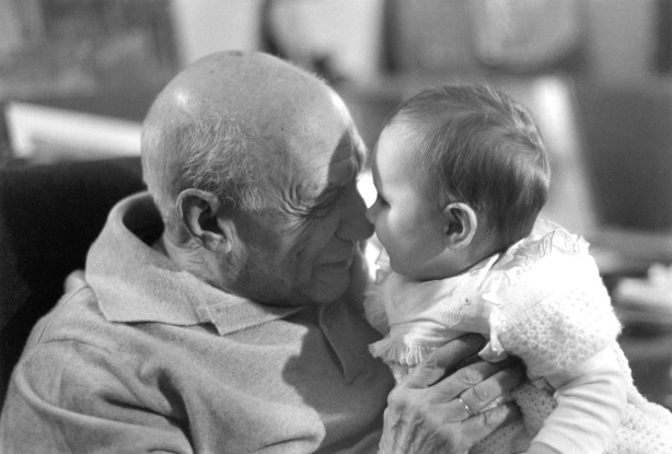 Lucien Clergue, Picasso and Olivia C., Mougins 1967