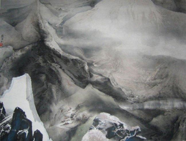 Liu Kuo-sung Heaven Lake 1982 ink on paper