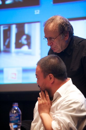vito acconci and ai weiwei discussing their collaboration