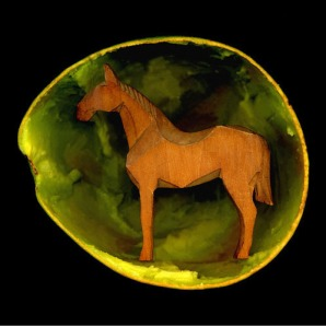 Angki Purbandono, Avocado Horse, 2010, Scannography, 100 x 100 cm
