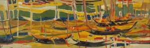 Boats in Bali by Yeh Chi Wei. 1962