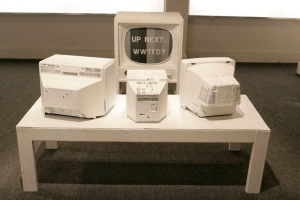 """Trong's piece from his eliminating round, """"What Would Tom Friedman Do?"""", 2010, Installation"""