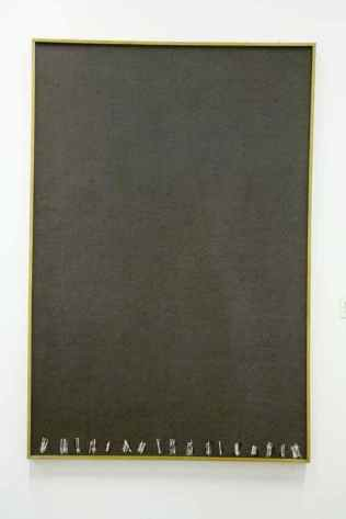 Tsong Pu, 'The White Line on Grey', 1983, mixed media, 194 x 130 cm.