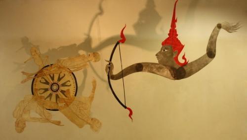 Chusak Srikwan, 'Birth-Age-Ailment-Death', 2009-10, leather carving.