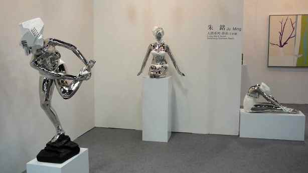 Sculptures by Taiwanese artist Ju Ming. Image property of Art Radar Asia.
