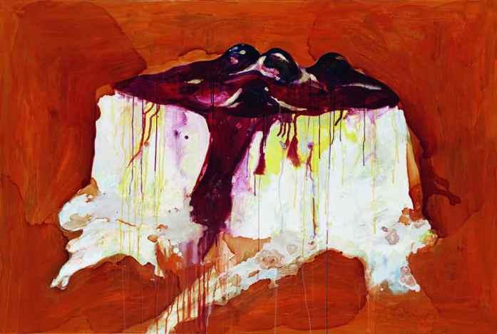 Wang Liang-Yin, 'Pudding of Consciousness', 2005, acrylic on canvas, 130 x 194 cm. Image courtesy of Kuandu Museum of Fine Arts.