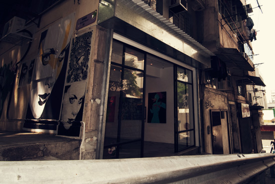 Above Second, one of Hong Kong's newest art spaces dedicated to street and urban art.