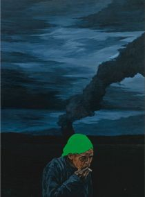 'Teka Teki' (2010, acrylic on canvas, 152 x 152 cm), by Malaysian artist Masnoor Ramli, is one of the works held in the Aliya and Farouk Khan Collection. Image courtesy of Tourism Malaysia.