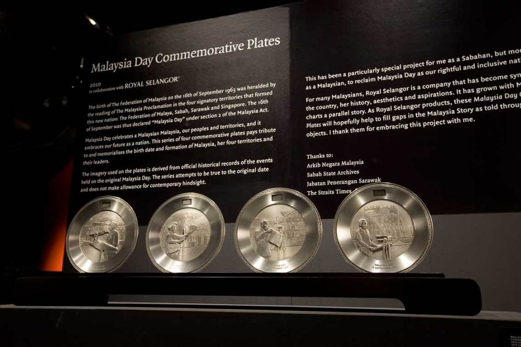 Boogeyman will also showcase four Malaysia Day  commemorative plates to honor the birth and formation of the Federation of Malaysia, the country's four territories and its leaders. This is supported by Royal Selangor. Image courtesy of Valentine Willie Fine Art.