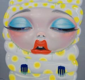 Yang Na, 'Gold Coined Hibernation', 2008, acrylic on canvas, 150 x 150 cm. Image taken from artnet.com.