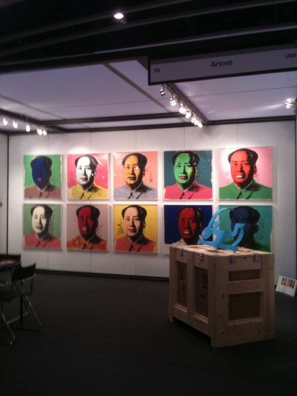 Artnet booth at Hong Kong International Art and Antiques Fair 2010